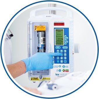 medical pump control